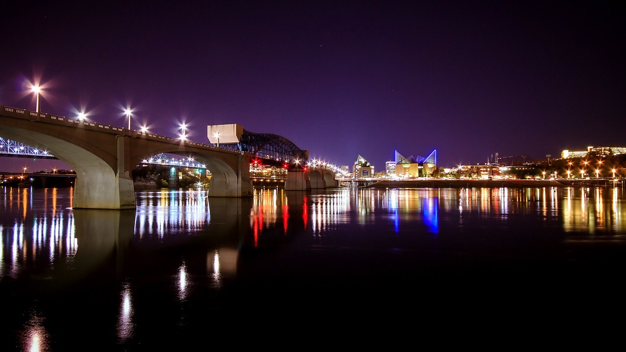 cityscape, bridge, chattanooga